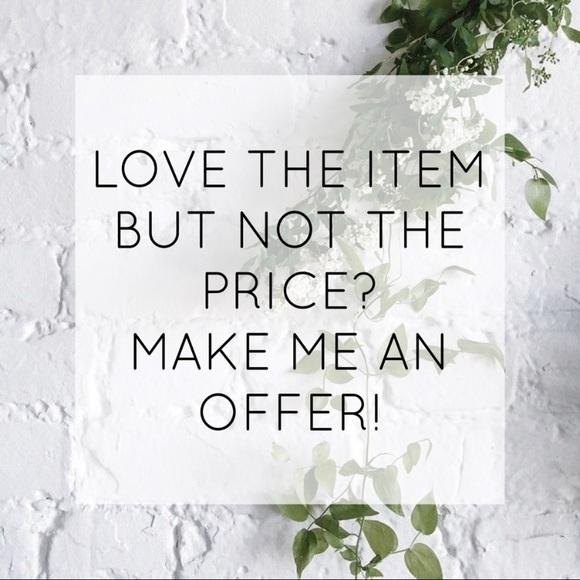 I'll accept any reasonable offer! 🌿
